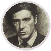 Michael Corleone Round Beach Towel