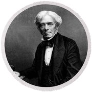 Michael Faraday, English Physicist Round Beach Towel