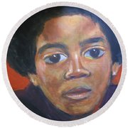 Michael Jackson Round Beach Towel