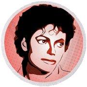Michael Jackson - Thriller - Pop Art Round Beach Towel