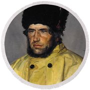 Michael Peter Ancher Round Beach Towel