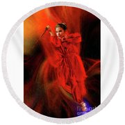Michelle Ahl To The Rescue Round Beach Towel