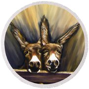 Michelle And Maxine Round Beach Towel