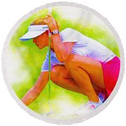 Michelle Wie Of Usa Lined Her Ball Round Beach Towel