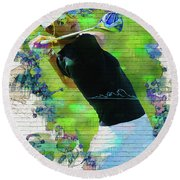 Michelle Wie Street Art Round Beach Towel