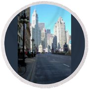 Michigan Ave Tall Round Beach Towel