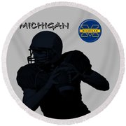 Michigan Football  Round Beach Towel