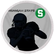 Michigan State Football Round Beach Towel