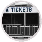 Michigan State University Tickets Booth Sc Signage Round Beach Towel