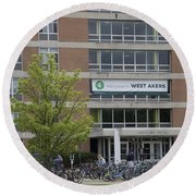 Michigan State University Welcome To Akers Signage Round Beach Towel