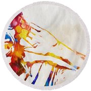 Mick Jagger Abstract Round Beach Towel