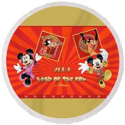 Mickey Mouse And Friends Round Beach Towel