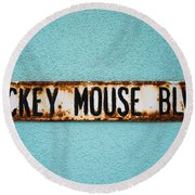 Mickey Mouse Blvd Round Beach Towel