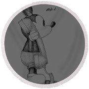 Mickey Mouse Novelty Phone Patent Round Beach Towel