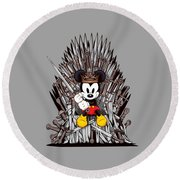 Mickey Thrones Round Beach Towel
