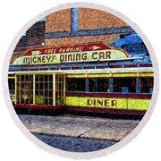 Mickey's Dining Car Round Beach Towel