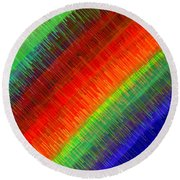 Micro Linear Rainbow Round Beach Towel