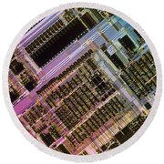 Microprocessors Round Beach Towel