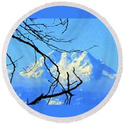 Mid Winter Round Beach Towel