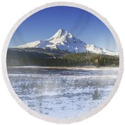 Mid-winter Morning Round Beach Towel