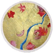 Midas Fall Round Beach Towel