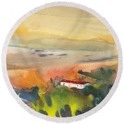 Midday 09 Round Beach Towel
