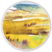 Midday 16 Round Beach Towel