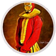 Middle Ages Iron Man Round Beach Towel