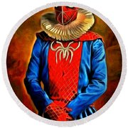 Middle Ages Spider Man Round Beach Towel
