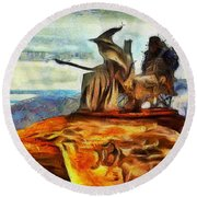 Middle Earth Airliner 2 - Da Round Beach Towel