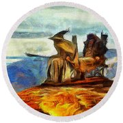 Middle Earth Airliner 3 - Da Round Beach Towel