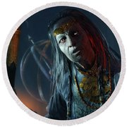 Middle-earth Shadow Of Mordor Round Beach Towel