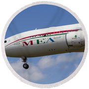 Middle Eastern Airlines Airbus A330 Round Beach Towel