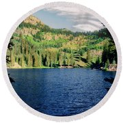 Middle Fork Lake Round Beach Towel