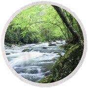 Middle Fork River Round Beach Towel