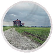 Middle Of Nowhere 4 Round Beach Towel