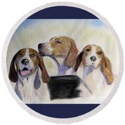 Middleburg Hounds Round Beach Towel