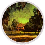 Middleton Place In Charleston Round Beach Towel
