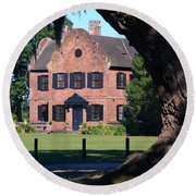 Middleton Place Plantation House Round Beach Towel