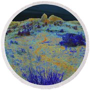 Midnight At The Burning Coal Vein Round Beach Towel