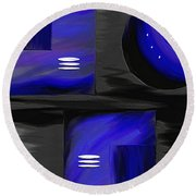 Midnight Round Beach Towel by Ely Arsha