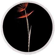 Midnight Flower 1 Round Beach Towel
