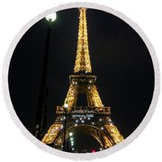 Midnight In Paris Round Beach Towel