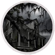 Midnight In The House Round Beach Towel by James Christopher Hill
