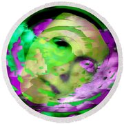 Midnight Mask Round Beach Towel