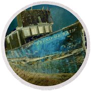 Midnight Shipwreck Round Beach Towel
