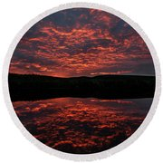 Midnight Sun In Norbotten Round Beach Towel