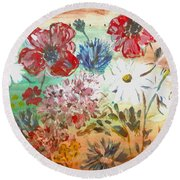 Midsummer Delight Round Beach Towel