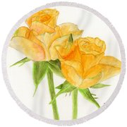 Midsummer Roses Round Beach Towel