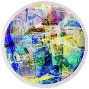 Midtown Manhattan Round Beach Towel